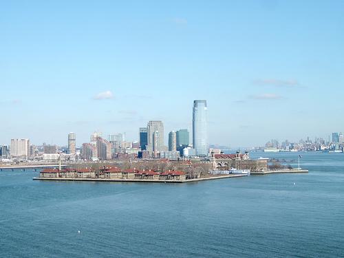 Ellis Island Looks Microscopic From Liberty Island