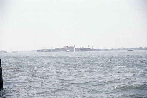 Approaching Ellis Island By Boat, Like So Many Have Done  Before