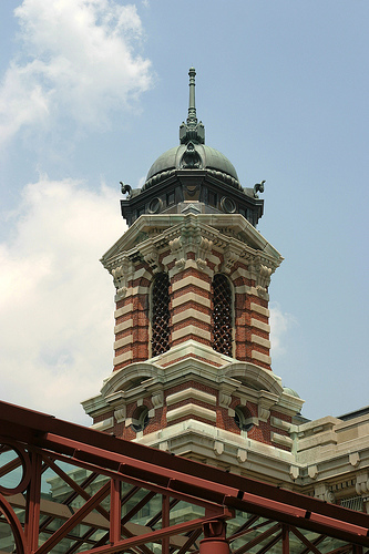 A View Of The Top Of Ellis Island