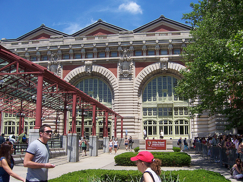 Entrance To Ellis Island Where You Can Get On The Boat For A Small Fee
