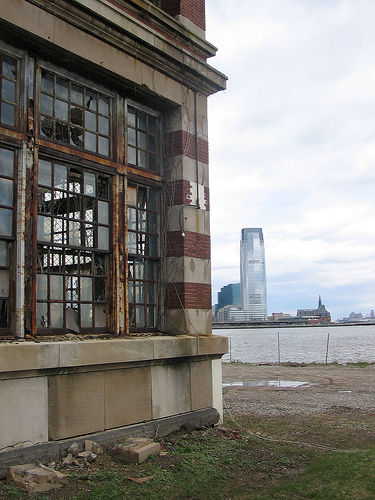 View From Ellis Island, Where Millions Of Immigrants First Step Onto American Soil