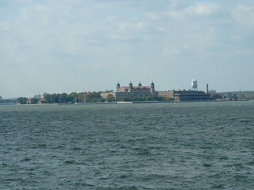 Ellis Island From Across The River.