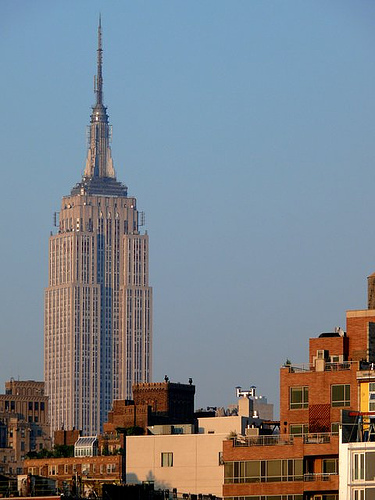 Truly Amazing View Of The Empire State Building As The Sun Sets.