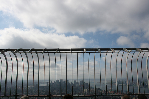 View Of Manhattan From Empire State Building On A Cloudy Day