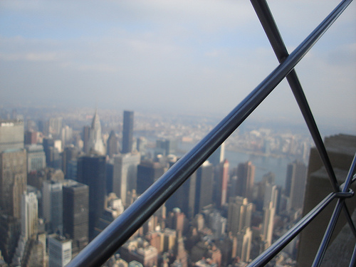 It Is A Long Way Down From The Top Of The Empire State Building.