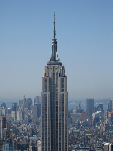 Empire State Building As Seen From The Top Of The Rockefeller Center On A Smoggy Day