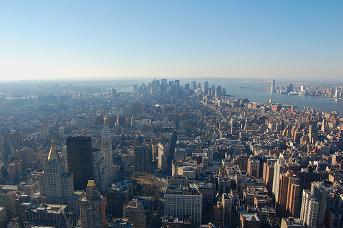 View From The Empire State Building -- On A Clear Day, You Can See Nearly 70 Miles