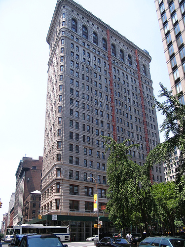 The Flatiron Building In Manhattan Is Simply Named After The Fact That It Looks Like A Clothes Iron.