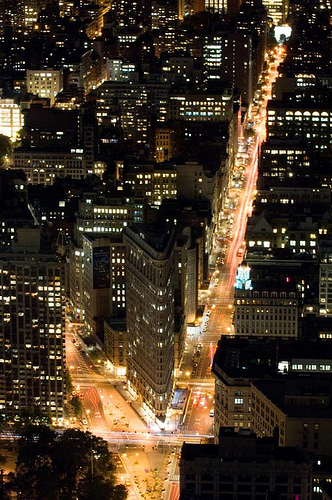 The Flatiron Building Sits On A Triangular Island Block At 23rd Street, Fifth Avenue, And Broadway.