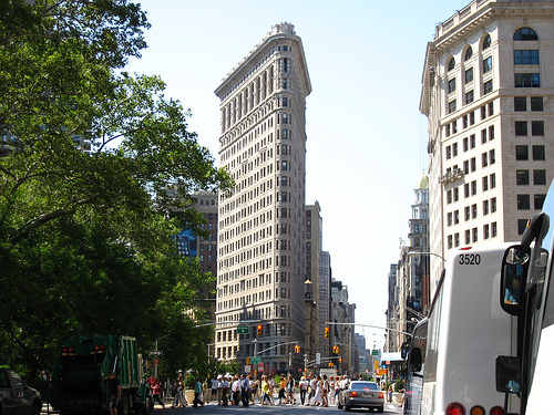 With Its Beaux-arts Style And Triangular Shape, The Flatiron Building Is A Well-known Skyscraper.