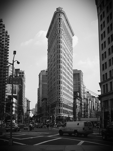 The Flatiron Building Was One Of The Tallest Buildings In New York When Built In 1902.