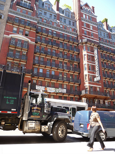 A View Of The Hotel Chelsea In The Chelsea Area Of Manhattan
