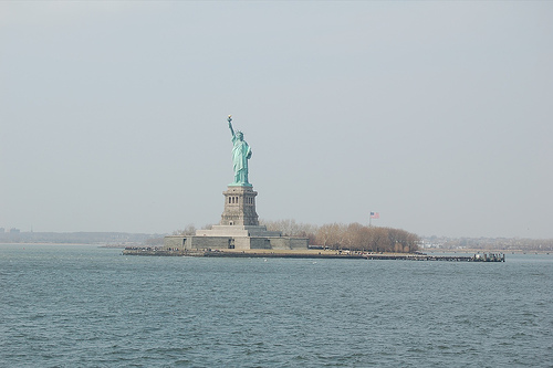 Lady Liberty Invites All To Come On Liberty Island.