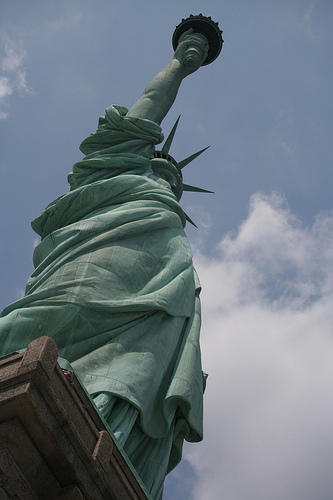 A Glorious Shot Of The Statue Of Liberty On Liberty Island, I Hope She Wearing Underwear