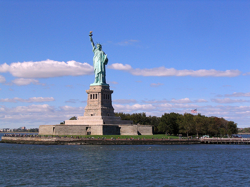 Liberty Island: The Home To The Statue Of Liberty Located In The New York Harbor