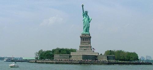 Great View Of Lady Liberty On Liberty Island
