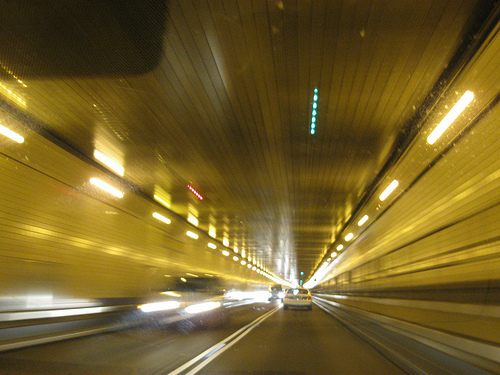 This Photo Makes Me Feel Like This Guy Is Speeding Through The Lincoln Tunnel