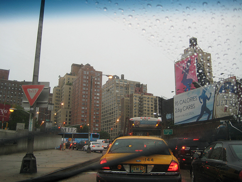 Near The Lincoln Tunnel On A Rainy Day