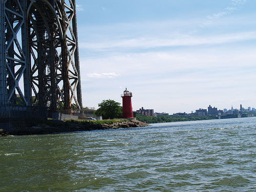 It's The Little Red Lighthouse That Could On The George Washington Bridge
