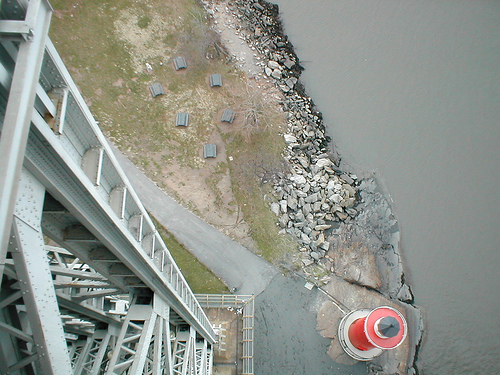 Looking Down At The Little Red Lighthouse