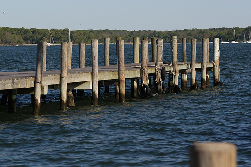 A Dock Off Of Greenport, Long Island, Known For Its Maritime History Of 300+ Years
