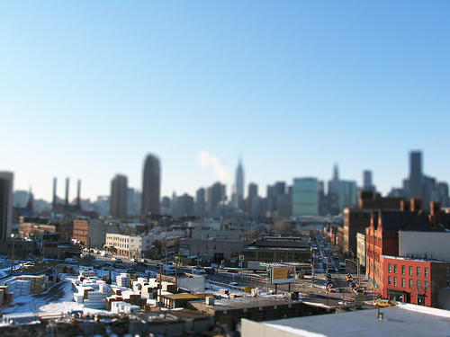 A Hazy View Of Manhattan From Long Island City, Across The River