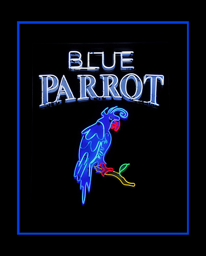 A Photo Of A Blue Parrot Sign Outside A Bar In Long Island