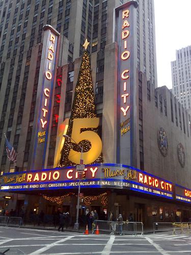 Radio City Music Hall Looks Ready For The Holidays.