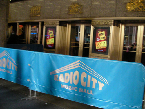 Barriers Out For An Event At Radio City Music Hall