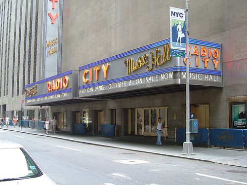 A Photo Of The Outside Of Radio City Music Hall.