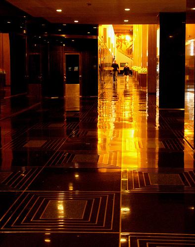 Beautifully Lit Photograph Taken Inside The Lobby Of Rockefeller Center