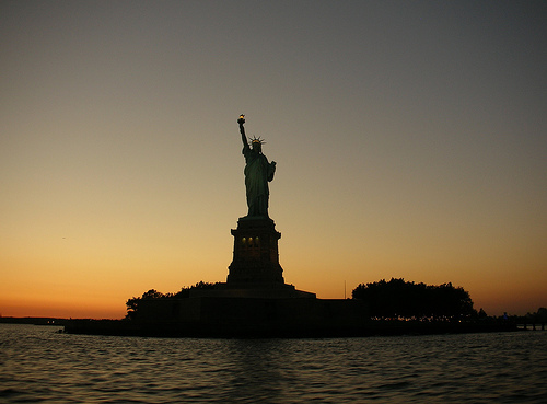 This Is The World Known Statue Of Liberty One Of The Oldest Constructions In The Usa