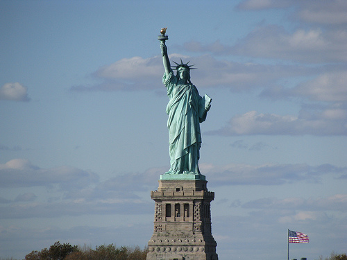The Glory That Is The Statue Of Liberty On A Sunny Day