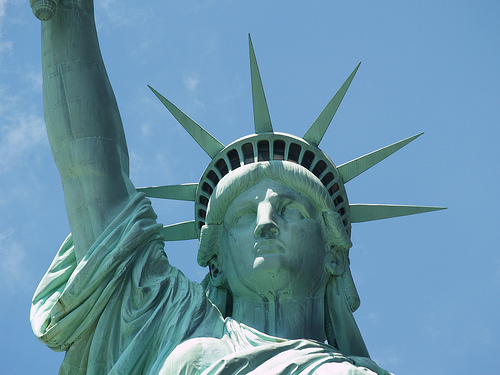The Face Of The Statue Of Liberty