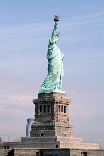Statue Of Liberty Was The First One To Meet New Visitors In New York City.
