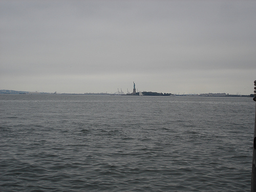 Statue Of Liberty From Far At Sea, Beautiful Like Ever
