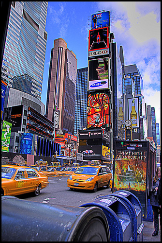 Awesome Shot Of Advertising In Times Square