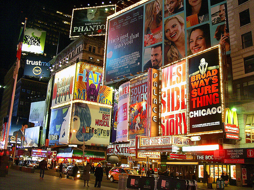 You Can See Times Square, A Place Full Of Papers