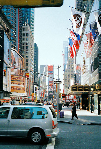 Times Square Dazzles In Daylight As Well As At Night.