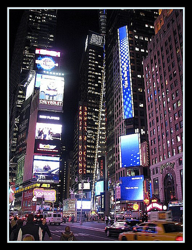 A Night-time View Of Times Square.