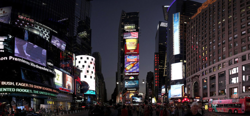 Colorful Photo Of Times Square During Night Life