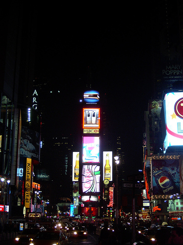 Time Square's Lights Giving Vegas A Run For Bright Light Title