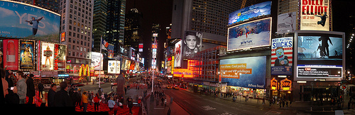 The Bustling Night Life Of Times Square