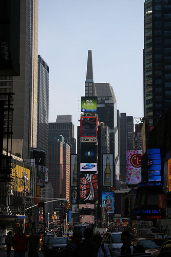 Times Square Seems Like A Living Thing, With Pulsing Lights And Exhaling Traffic.