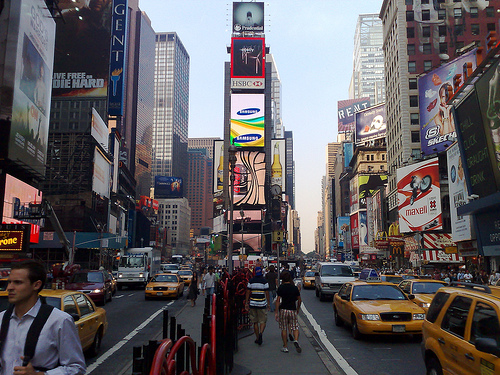 What Its Like To Really Be Stuck In The Middle Of Traffic In Times Square.