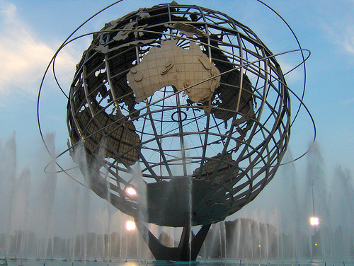 The Iconic Unisphere Was Built In Queens For The 1964 World's Fair