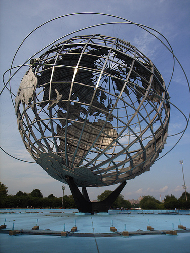 A Photo Of The Unisphere From A Great Angle Which Shows Its Full Great Size