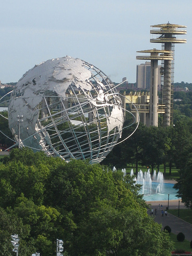 Interesting View Of The Unisphere Located At The U.s. Open Tennis Center