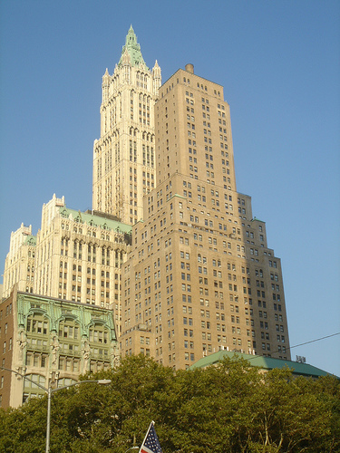 The Impressive And Imposing Woolworth Building Uses Its 57 Floors To Point Skyward.