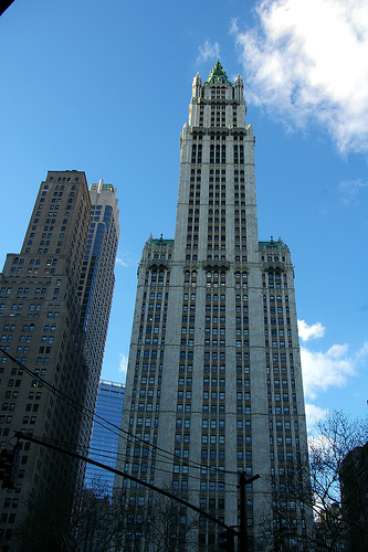 A Nice Vertical Shot Of The Woolworth Building